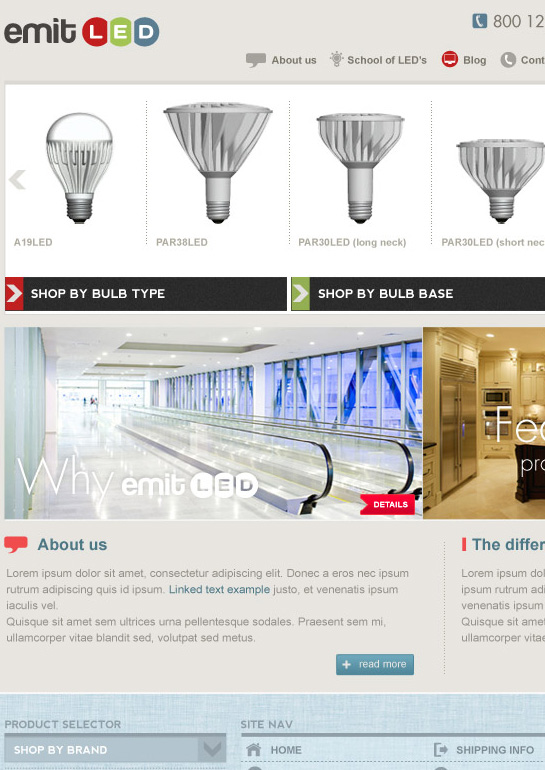 Layout design for an e-commerce website from New York