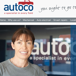 Autoco - Layout design for a car service based in Canberra, Autralia.