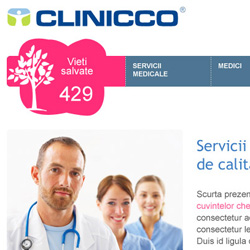 Website layout proposal for a Brasov based clinic.