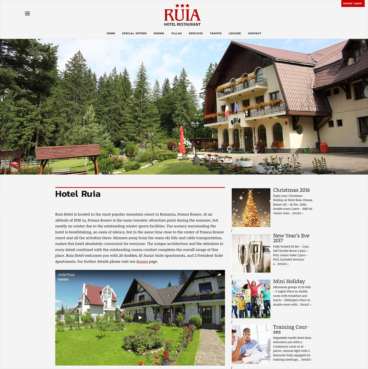 Brasov web design portfolio sites print seo site de for Site web pour hotel